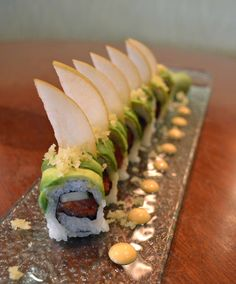 Spicy Dragon Roll with Asian Pear