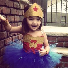 wonder woman little girl costume tutu- Cute!