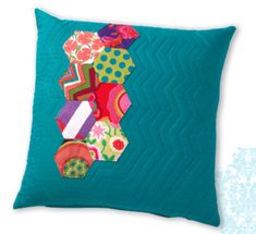 Hexie Pillow pattern + tutorial by Kelly Biscopink and Andie Johnson, authors of Modern Designs for Classic Quilts   Sew Mama Sew  