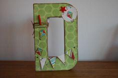 letters handmade scrapbooking decoración habitación niños
