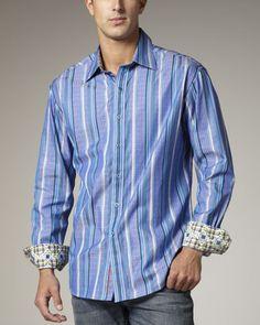 6c8e0a8a7f Robert Graham The J.P. Striped Sport Shirt