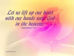 Lift Up Your Heart to God by Heart Windows Art, via Flickr