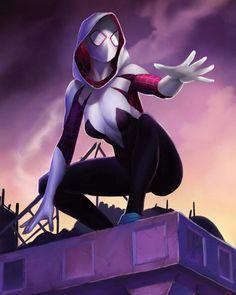 Spider-Gwen by Forty-Fathoms on DeviantArt Tableau Star Wars, Marvel Spider Gwen, Female Hero, Marvel Women, Spider Verse, Marvel Characters, Art Reference, Comic Art, Marvel Comics