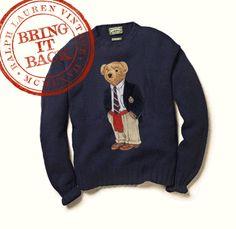 Ralph Lauren Vintage Polo Bear Sweater / #ralphlauren #retro #vintage