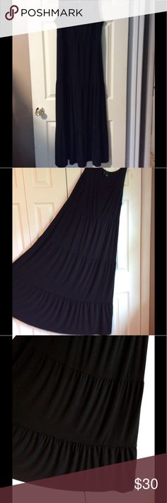 """NEW  DIRECTIONS women's 2X floor length dress. NEW  DIRECTIONS  WOMAN, size 2X, sleeveless, floor length dress. (Approximately 55"""" from shoulder to hem.) Black. Like new. Worn once. No flaws to note. It doesn't wrinkle easily. Material 96% polyester, 4% spandex. Thanks for shopping my closet. NEW DIRECTIONS Dresses"""