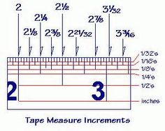 Tape Measure The Example Above Shows The Markings In 1 16