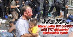 cruelty to syrian and afganian refugees;  Macar polisi mülteci çocuğu kör etti