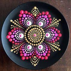 ideas for mandala art design acrylics Mandala Art, Mandala Design, Mandala Canvas, Mandala Painting, Mandala Pattern, Dot Art Painting, Rock Painting Designs, Pebble Painting, Pottery Painting