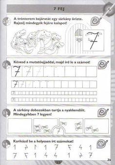 Kispilóta- Számírka - Kiss Virág - Picasa Webalbumok Preschool Math, Kindergarten Worksheets, Math Activities, Teaching Methods, Writing Numbers, Cursive, Mathematics, Alphabet, Album