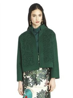 FLORAL EMBROIDERED CASHGORA JACKET, $3,290.00