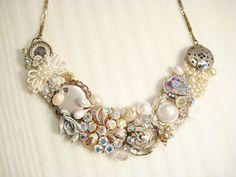 gold, rhinestone, and pearl