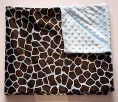 Animal Print (Giraffe) Double-Sided Minky Blanke