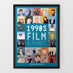 Poster Films des années 90 de A à Z par Steven Wildish