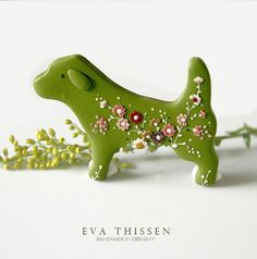 Puppy Love. Sweet handmade polymer clay brooch by Eva Thissen Gallery, via Flickr