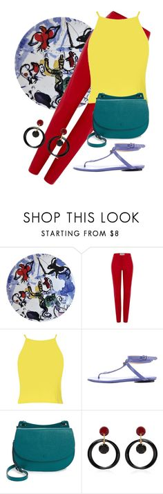 """Modern & Contemporary Art 1/3: Marc Chagall"" by foldym-sd ❤ liked on Polyvore featuring Bernardaud, Loewe, Boohoo, Balenciaga, Halogen, Marni, modern and contemporary"