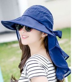 e341fe8362a01 Which in shower Women Foldable UV Protection Wide Brim Sun Hat Face Neck  Protection Chiffon Summer Hat Beach Cap Panama