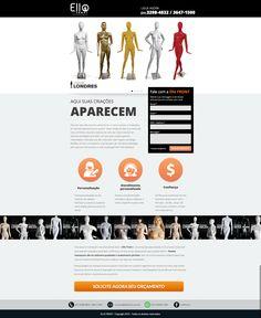 Ello Front - Landing Page Manequins  #ellofront #manequim