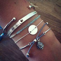 Composition de bracelet argent tête de Bouddha - L'Atelier d'Amaya #bracelet…