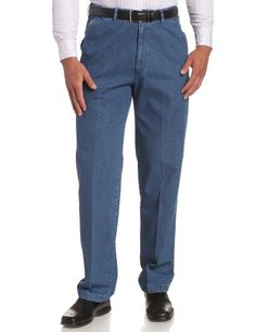 Haggar Men's Work To Weekend Flat Front Expandable Waist Trouser Denim $32.90 - $42.00