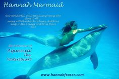 View the Under the Sea With Real Life Mermaid Hannah Fraser photo gallery on Yahoo. Find more news related pictures in our photo galleries. Real Mermaids, Mermaids And Mermen, Mermaids Exist, Pretty Mermaids, Fantasy Mermaids, Mythical Creatures, Sea Creatures, Mermaid Photos, Dolphins
