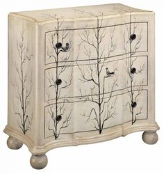 Christopher Knight Home Juneau Antique Ivory Three Drawer Chest (Juneau Antique Ivory 3 Drawer Chest), Beige Off-White 3 Drawer Chest, Wood Chest, Chest Of Drawers, Large Drawers, Accent Chest, Idee Diy, Wood Accents, Wood Colors, Painted Furniture