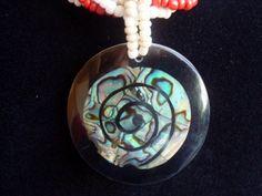 Colar Espiral Abalone  www.munayartes.com