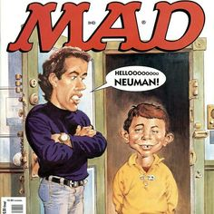 Seinfeld hello neuman mad magaZine cover art
