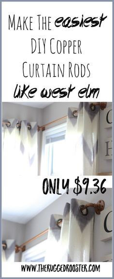29 easy spray paint ideas that will save you a ton of money diy diy curtain rod west elm curtain rod copper curtain rod easy diy curtain solutioingenieria Image collections