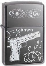 US Military Colt .45 M1911 Automatic Pistol Black Ice Zippo Lighter