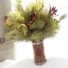 This inspiration board is based on a simple pine tree.  Chic and elegant ideas for your Christmas or winter wedding.