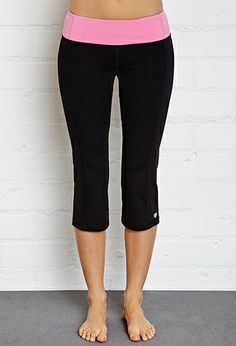 Cinched Workout Capris | FOREVER21 - 2000051687