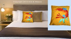 Cotton cushion covers which are hand made by Knit & Weave.