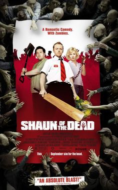 """When flesh eating zombies go on the hunt for a bite to eat, it is up to Shaun and his best pal to save their friends and family from becoming the next entree."" Find SHAUN OF THE DEAD in our catalog: http://highlandpark.bibliocommons.com/item/show/937208035_shaun_of_the_dead"