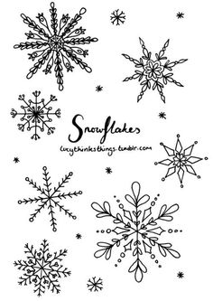 Since it's snowing here, I thought I'd draw some snowflakes. They're the perfect thing to doodle in your journal and can look pretty good with little effort.