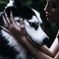 Shop Running With The Wolves Now dixi jewellery jewelry boho bohemian grunge goth dark mystic magic witchy sterling silver rings Grunge Goth, Animals And Pets, Cute Animals, Wolves And Women, Wolf Images, Wolf Necklace, Wolf Love, Character Aesthetic, Photo Quotes