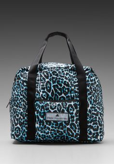 ADIDAS BY STELLA MCCARTNEY Carry-On Bag in Black/White/Water Blue - adidas by Stella McCartney