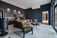 This home is located in Austria's countryside. We chose an industrial chic style while keeping the house cozy for it's four inhabitants. Industrial Chic Style, Interior Design Studio, Luxury Living, Countryside, Cozy, Table, House, Furniture, Home Decor