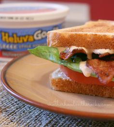Check it out! New Heluva Good dips made with Greek Yogurt! So yummy whether on chips or like my husband did, on a sandwich in place of mayo! #HVGgoesGreek #shop #MC