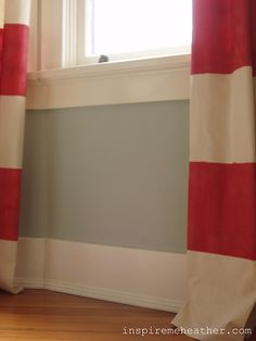 drop cloth painted curtains