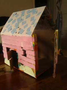 Dolls house from nappy box