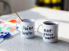 Paint Water Mugs