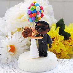 Custom Wedding Cake Topper UP Inspired