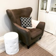 Wing chair in transitional lounge room Long Day, Lounge Decor, Wing Chair, Armchair, Relax, Room, Furniture, Home Decor, Womb Chair