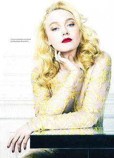 Dakota Fanning photographed by David Slijper for Elle UK, February 2012