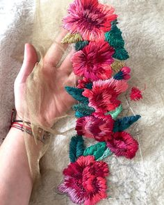 Handcrafting a satin stitch flower embroidery may well be a lost art in the near future. However, this is a skill that anyone can practice and learn and make beautiful embroidery handpieces for all occasions. Mexican Embroidery, Hand Embroidery Stitches, Embroidery Fashion, Silk Ribbon Embroidery, Crewel Embroidery, Embroidery Techniques, Cross Stitch Embroidery, Embroidery Patterns, Machine Embroidery