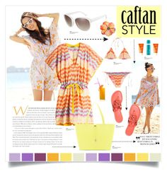 Cool Caftan Style by carlavogel on Polyvore featuring polyvore, fashion, style, Missoni, Missoni Mare, Tory Burch, Vince Camuto, Coastal, Avène, Moroccanoil and caftanstyle