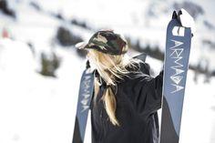 Maude Raymond + ARW Ski | ARMADA  #MaudeRaymond #Skis #Armada