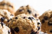 Blissful Blueberry Banana Spelt Muffins (vegan + refined sugar-free)