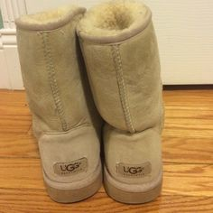 Sand colored uggs Sand uggs , classic short. UGG Shoes Winter & Rain Boots