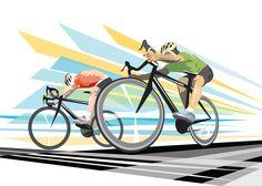 Original Modern Retro Sport Illustration Graphic Art Print: Finish Line. $10.00, via Etsy.